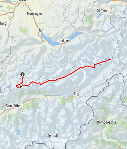 Kaart / Grote Berner Alpentraverse