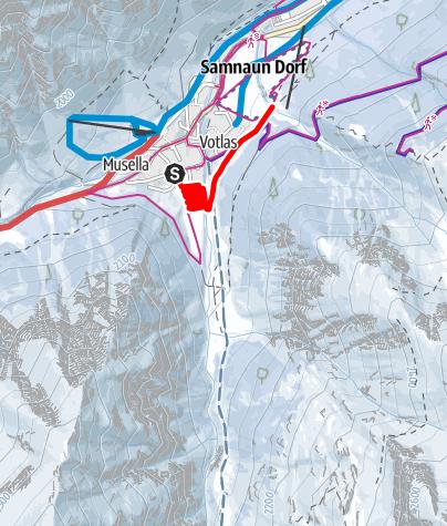 Karte / L1 Loipe Samnaun
