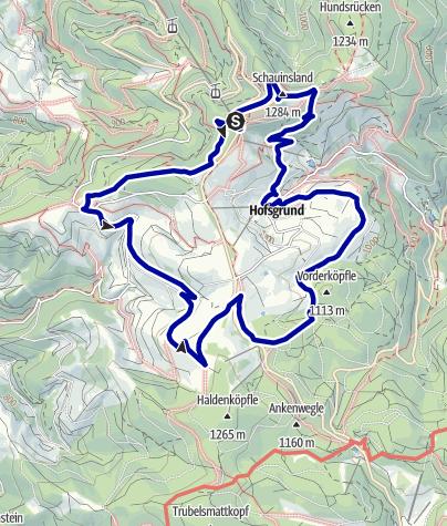 Karte / Rund um den Schauinsland