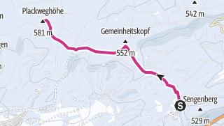 Karte / Winterwanderweg zum Lörmecketurm