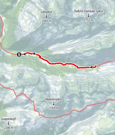 Karte / Von der Unteren Gaflunaalpe zum Schwarzsee im hinteren Silbertal und retour