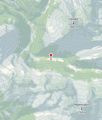 Karte / Untere Gaflunaalpe