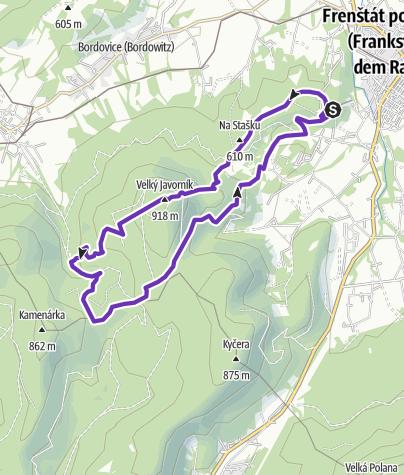 Mapa / Horská výzva 2020: Beskydy - SHORT
