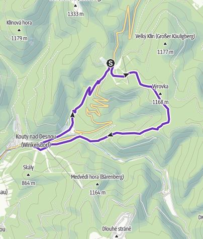 Mapa / Rock Point - Horská výzva 2019: Jeseníky - SHORT
