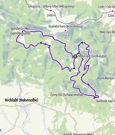 Map / Rock Point - Horská výzva 2018: Krkonoše - LONG