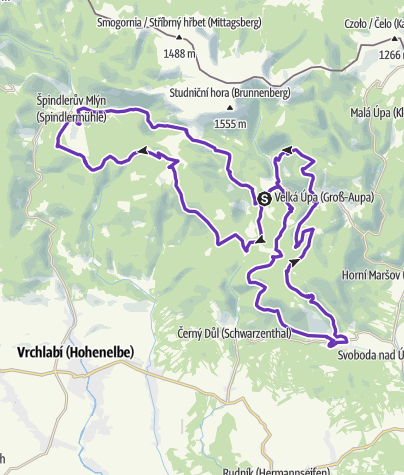 Map / Rock Point - Horská výzva 2019: Krkonoše - LONG