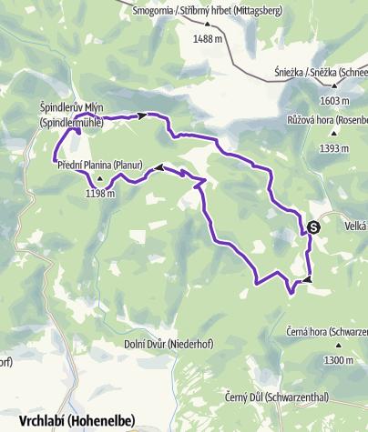 Map / Rock Point - Horská výzva 2018: Krkonoše - HALF