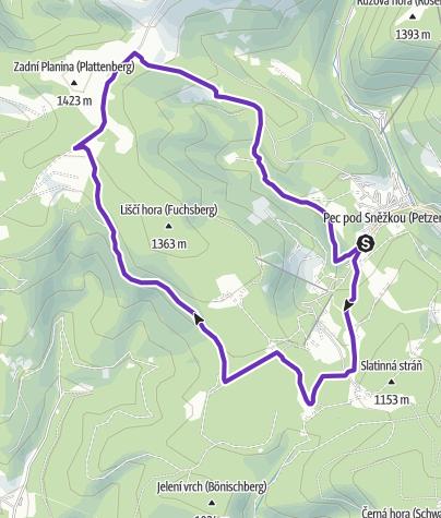 Mapa / Rock Point - Horská výzva 2019: Krkonoše - SHORT