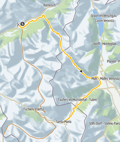 Map / 32.02 Scuol–Sta. Maria, Trans Altarezia Bike