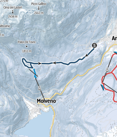 Cartina /  Malga Tovre e rifugio La Montanara