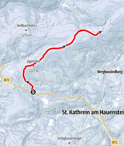 Karte / Schneeschuhtour Hauereck