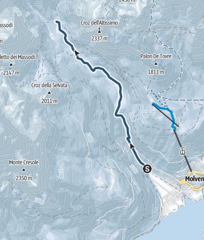 Cartina / Molveno - rifugio Croz dell'Altissimo