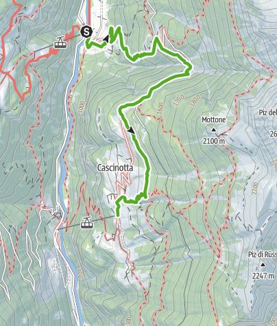Karte / Panoramaweg-Valle Calanca