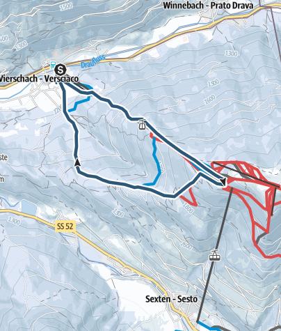 Cartina / Mountain Brunch Tre Cime