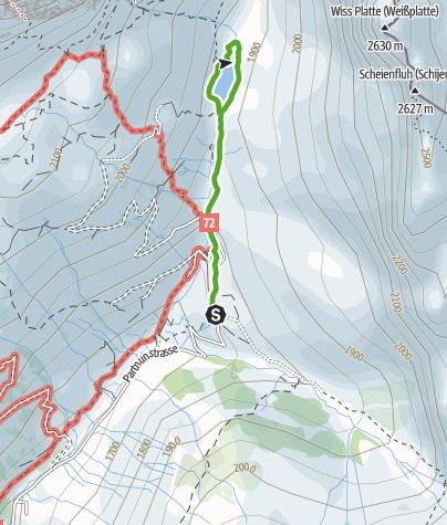 Karte / Rund um den Partnunsee in St. Antönien