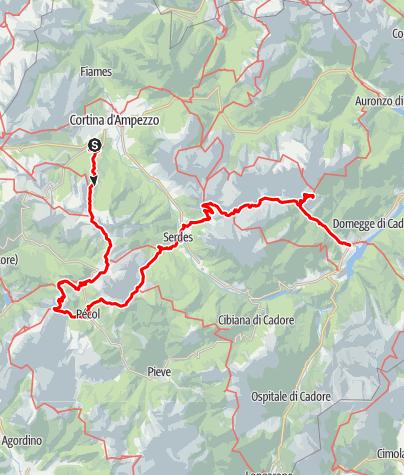 Kaart / Alte Vie delle Dolomiti