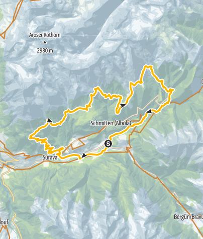 Kaart / GPS Albula Haute Route