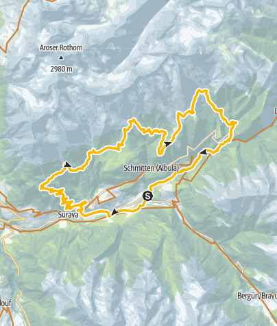 Karte / GPS Albula Haute Route