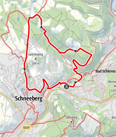 Karte / Auf dem Weg der Planeten in Bad Schlema