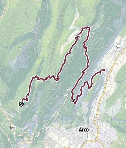 Cartina / GardaTrek - Top Loop 3: Una lunga discesa verso il fiume Sarca