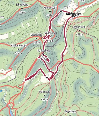 Karte / Wegelnburg, Hohenburg, Löwenstein, Fleckenstein - Einkehr auf dem Gimbelhof im Elsass