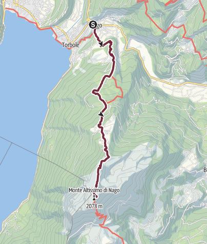 Cartina / GardaTrek - Top Loop 6: Nel Giardino d'Europa