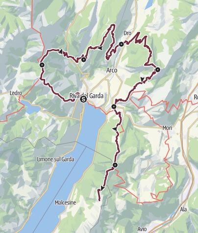Map / Garda Trek - Top Loop: The crown of Garda Trentino