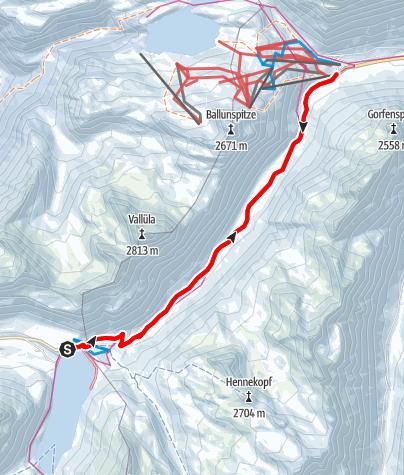 Karte / Winterwanderweg nach Galtür