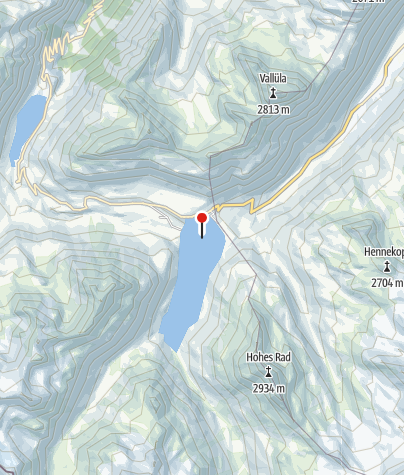 Karte / Silvrettasee (Winter)