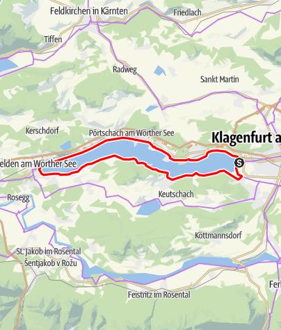 Karte / Wörthersee Runde