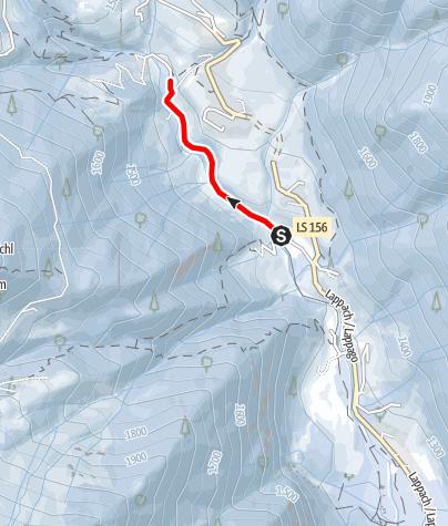 Map / Winter walk - Lappago/Lappach Kneipp facility