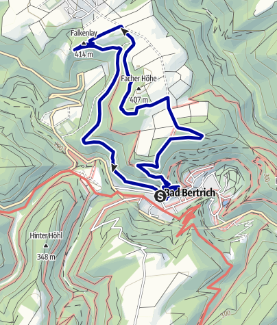 Karte / GEO-ROUTE Bad Bertrich