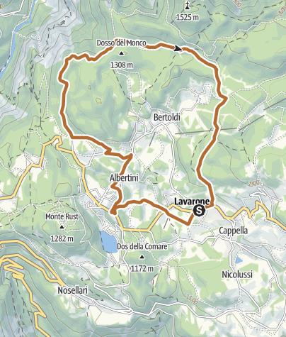 Karte / 4 - Giro del Tomazol