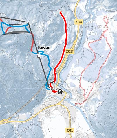 Karte / Winterwanderung zum Gasthof Krepper
