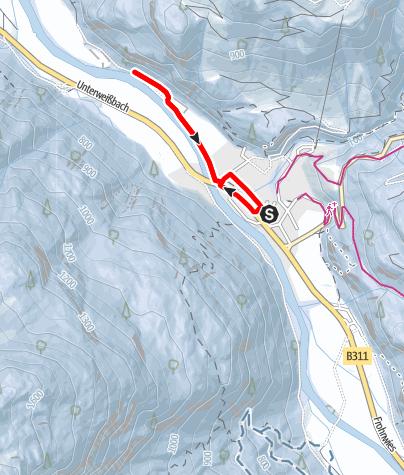 Karte / Winterwanderung Saalachweg