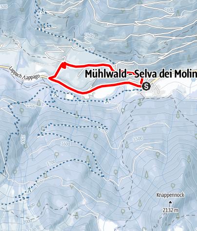 Map / Winter walk - Selva dei Molini/Mühlwald