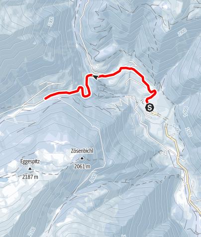 Map / Winter walk - Lappago/Lappach Val di Cesa/Zösen