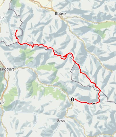 Kaart / Rätikon Highway