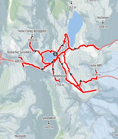 Kaart / Granatspitzgruppe