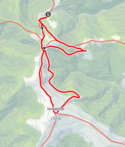 Mapa / Schwaigen-Rundweg auf den Hochwechsel