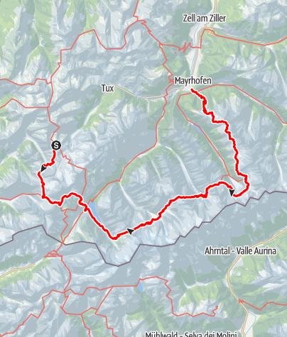 Kaart / Berliner Höhenweg (Zillertal)