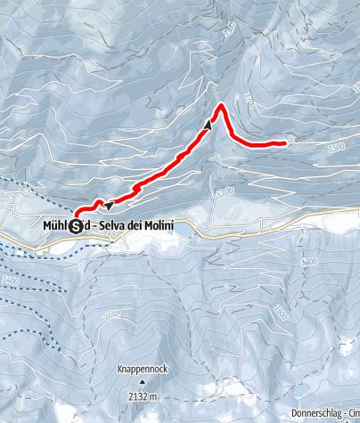 Map / Winter walk - Selva dei Molini/Mühlwald Holzerhof