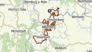 Karte / Churfranken Mountainbike-Trail (M-O-S)