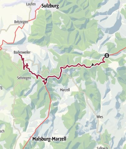 Karte / Kreuzweg - Blauen - Badenweiler