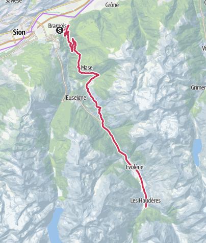 Cartina / Val d'Hérens - Entlang der Walliser Täler