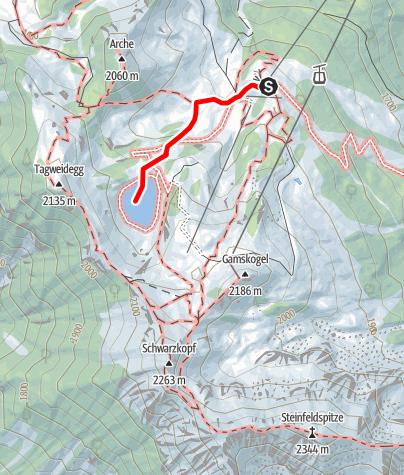 Karte / Kuh-Lehrpfad am Gamskogel - Wandern und dabei von Kühen lernen