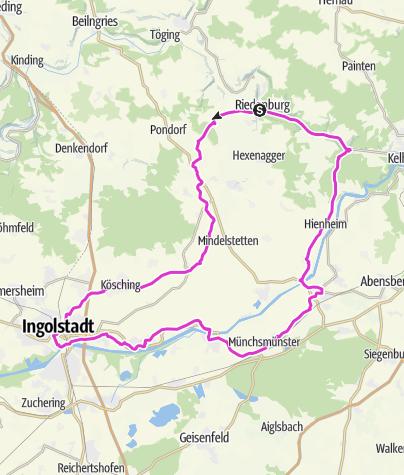 Map / [r]auszeit Rennrad-Erlebnis II: Durch das Schambachtal bis nach Ingolstadt