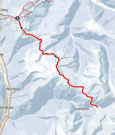 Karte / Nockberge-Trail: Skiroute Etappe 1