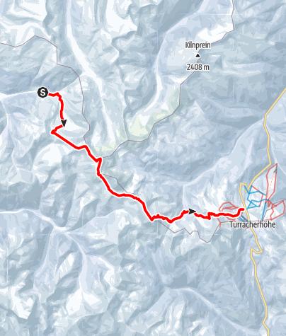 Karte / Nockberge-Trail: Skiroute Etappe 2