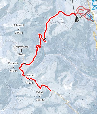 Karte / Nockberge-Trail: Skiroute Etappe 3